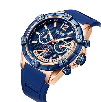 910801743bc0 SW Watches Megir Ver Relojes Deportivos para Hombre Relojes Militares  Impermeables del Cronógrafo De Los Hombres Reloj De Cuarzo para Hombre De  Marca De ...