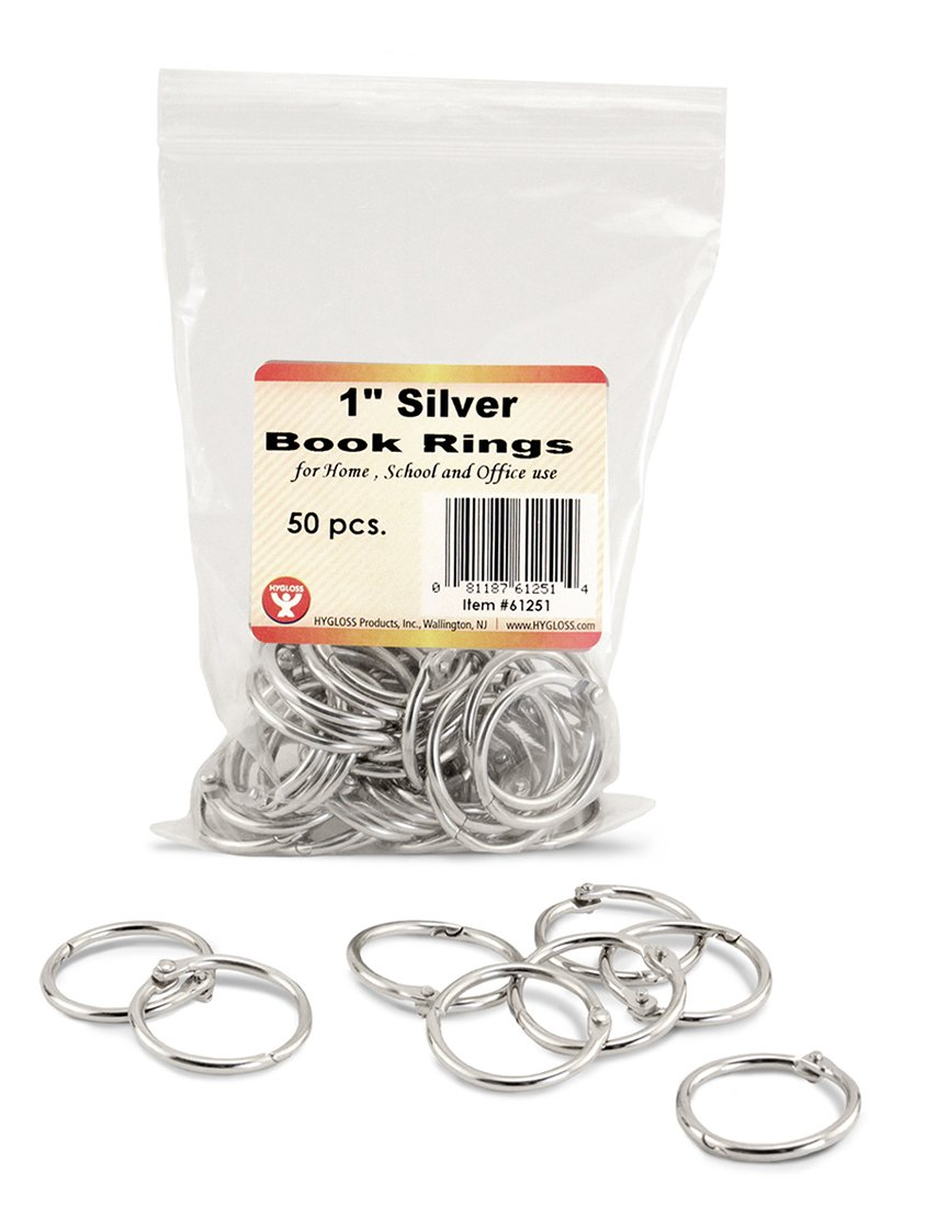 50... 1 Inch Assorted Colored Steel Binder Rings Hygloss Products Book Rings