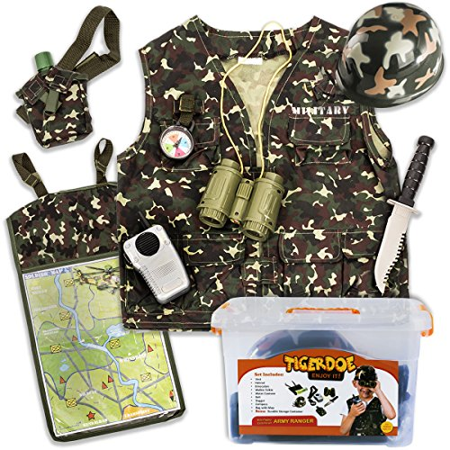 Army Ranger Costume - Soldier Costumes for Kids with Case - Army Costume - Dress Up Clothes by (Army Soldier)