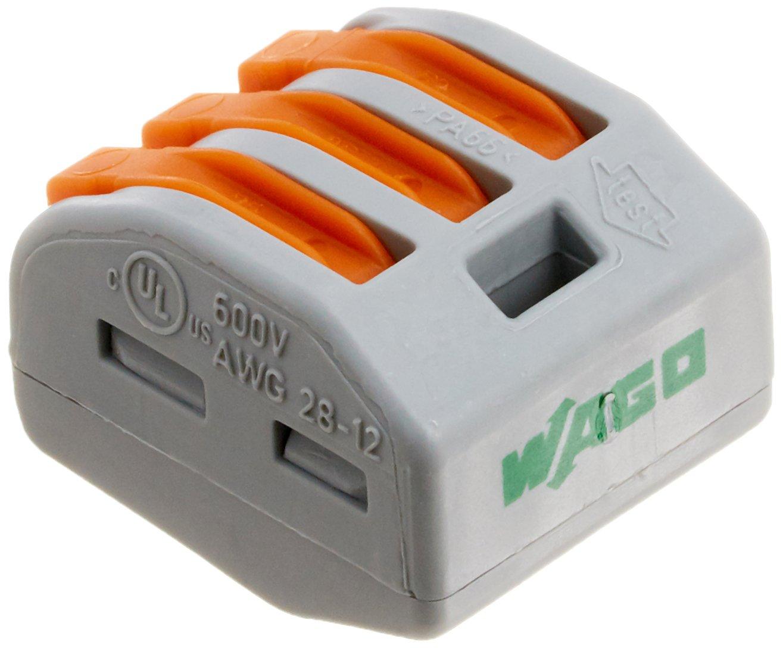 Wago 222-413 LEVER-NUTS 3 Conductor Compact Connectors 10 PK ...