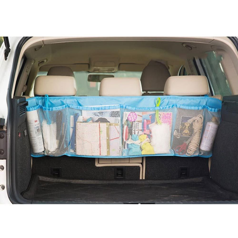 Kids Car Auto Trunk Organizer Seat Cover Toys Storage Phone iPhone Holder BagsiColorFBluej by Huayang (Image #2)