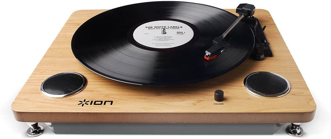Ion PROFESSIONAL 3-Speed Digital Conversion Turntable with Built-In Speakers, RCA Output with EZ Vinyl/Tape Converter Software CD Included