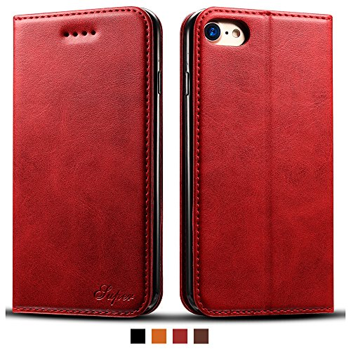 IPhone 6 Plus Smart Leather Wallet Cell Phone Card Holder Case Kickstand Protective Flip Cover, ()