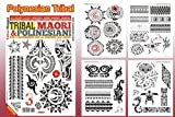 TRIBAL MAORI POLYNESIAN Tattoo Flash Design Book 64-Pages