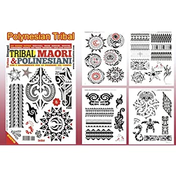 c880902e5 Amazon.com: TRIBAL MAORI POLYNESIAN Tattoo Flash Design Book 64 ...