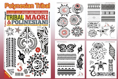 POLYNESIAN TRIBAL Tattoo Flash Book 66-Pages Pacific Island Design (Personal Tattoo Design)