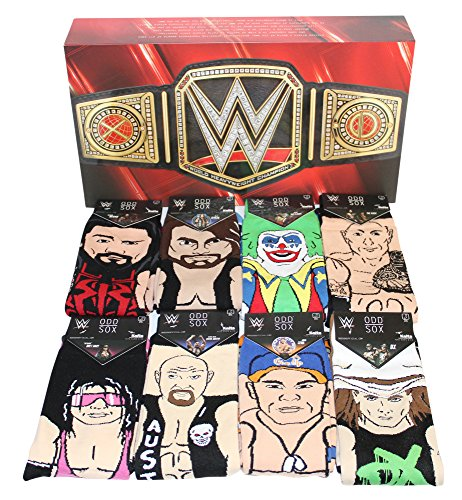 Odd Sox Limited Edition WWE Legends Gift Box Set 360 Knit Crew Sock (8-Pair) by Odd Sox (Image #6)