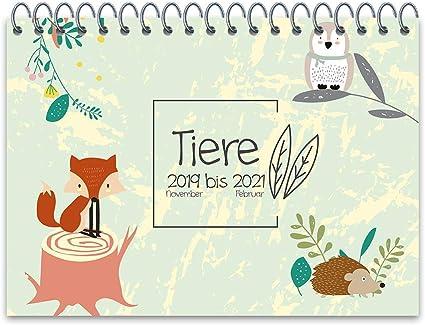 Wolga  Calendario da parete, motivo: animali della foresta