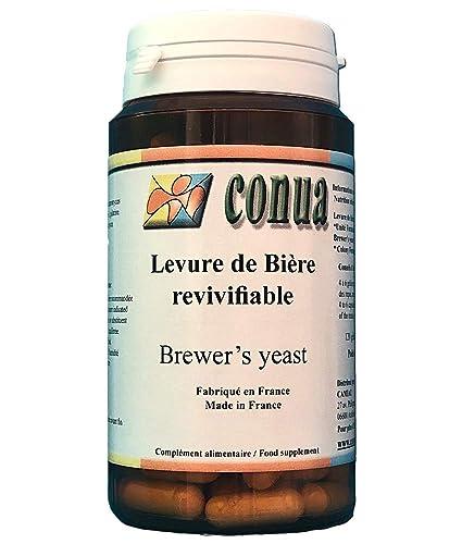 Levadura de cerveza viva 120 cápsulas: vigorizante digestión uñas pelo activa de la piel del