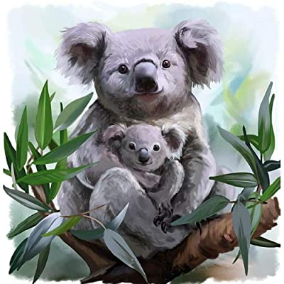 5D Diamond Painting Kits for Adults Kids, Full Drill Diamond for Home Wall Decor Koala Bear with Baby 11.8 × 11.8inch: Arts, Crafts & Sewing