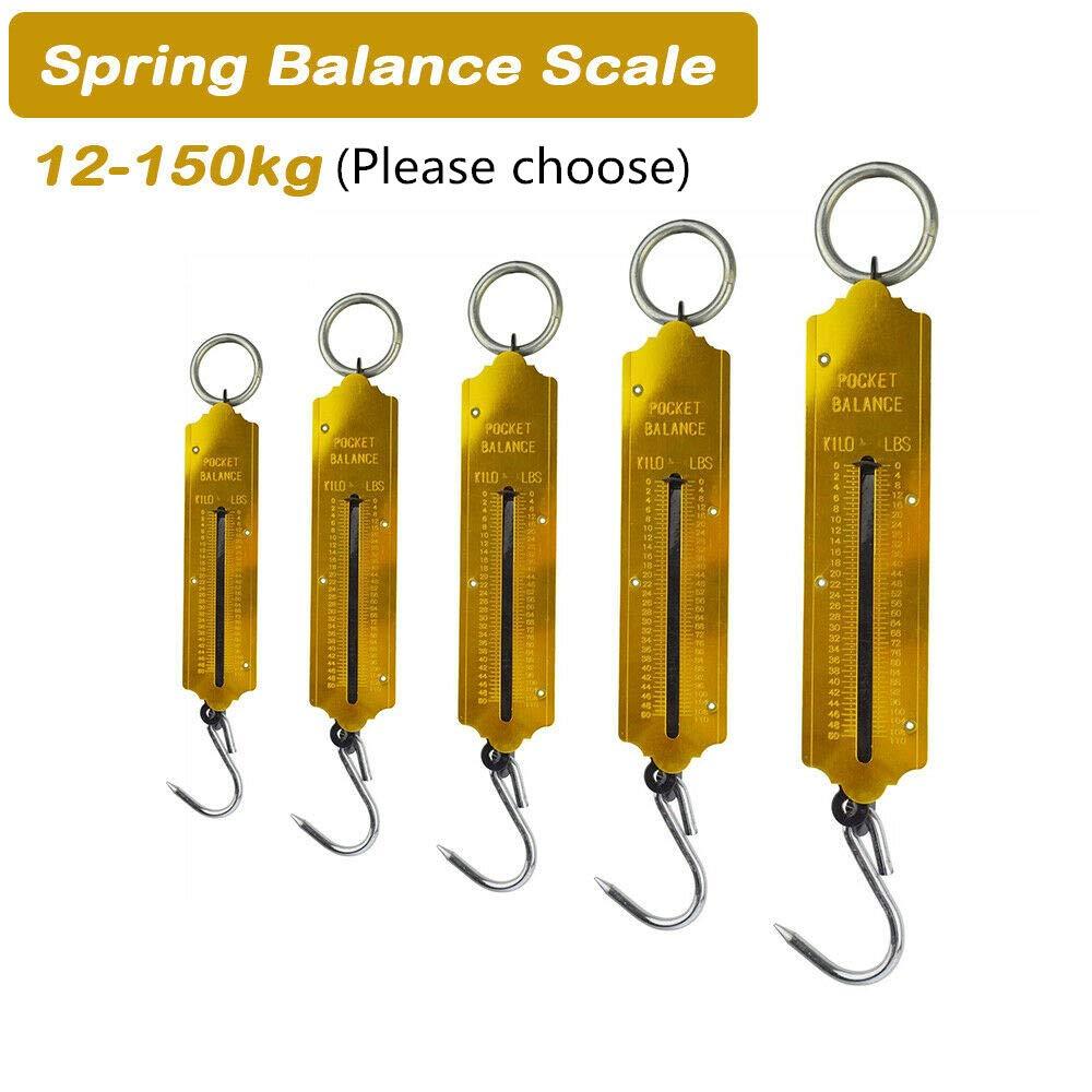 BE-TOOL oro Bilancia a molla per pesare oggetti leggeri