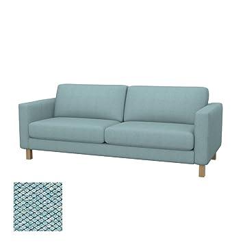Amazonde Soferia Bezug Fur Ikea Karlstad 3er Sofa Nordic Sea Green