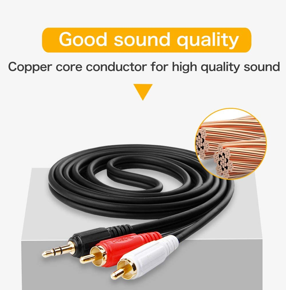 and Amplifiers 15FT//5m, Black-Male to Female Choseal QS3402A /15FT 3.5mm Audio Cable for iPod Laptop,Home Theater Devices