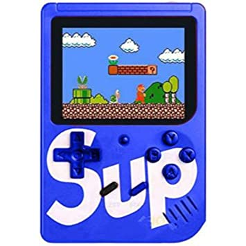 Nain SUP 400 in 1 Handheld Classical Video Digital Game with TV Output 8 GB with Mario, and Other 400 Games, DR Mario, Turtles, Super Mario, FIFA14, Contra (Blue)