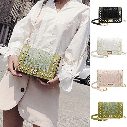 Shoulder Bag, Luxury Pearl Bags Women Crossbody Bags Girls Messenger Bags Small Handbags Phone Coin Bags (Pink) by Euone_Bag (Image #2)