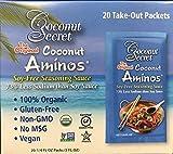 Coconut Aminos Organic Soy Free Seasoning Sauce, 0.25 Oz Togo Packet Size X 20