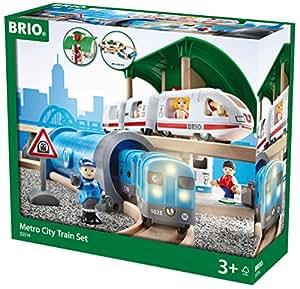 Brio 33514 - Juego de tren urbano de madera