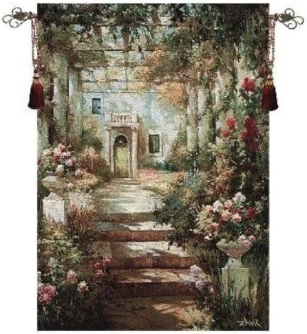 Manual Summer Pergola Grande Cotton Tapestry Wall Hanging, 35 X 47-Inch