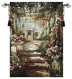 Manual Summer Pergola Grande Cotton Tapestry Wall Hanging, 35 X 47-Inch