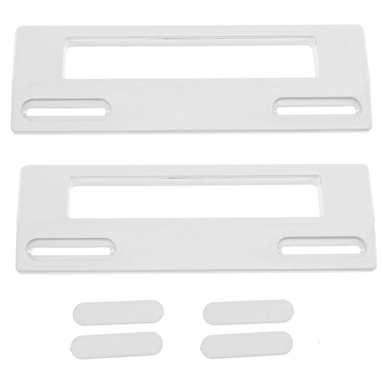 SPARES2GO Door Handle For Beko Fridge Freezer (190mm, White, Pack of 2)