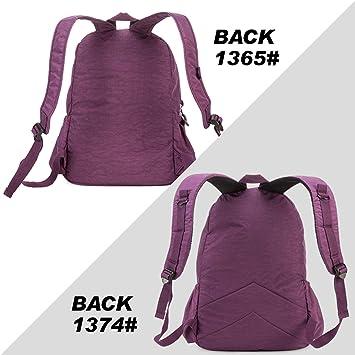 Amazon.com  School Gomfe Backpack for Teenage Girls Student Bag Feminina  Women Back Pack Nylon Big Travel Laptop Bagpack  Computers   Accessories 7b776a325bc51