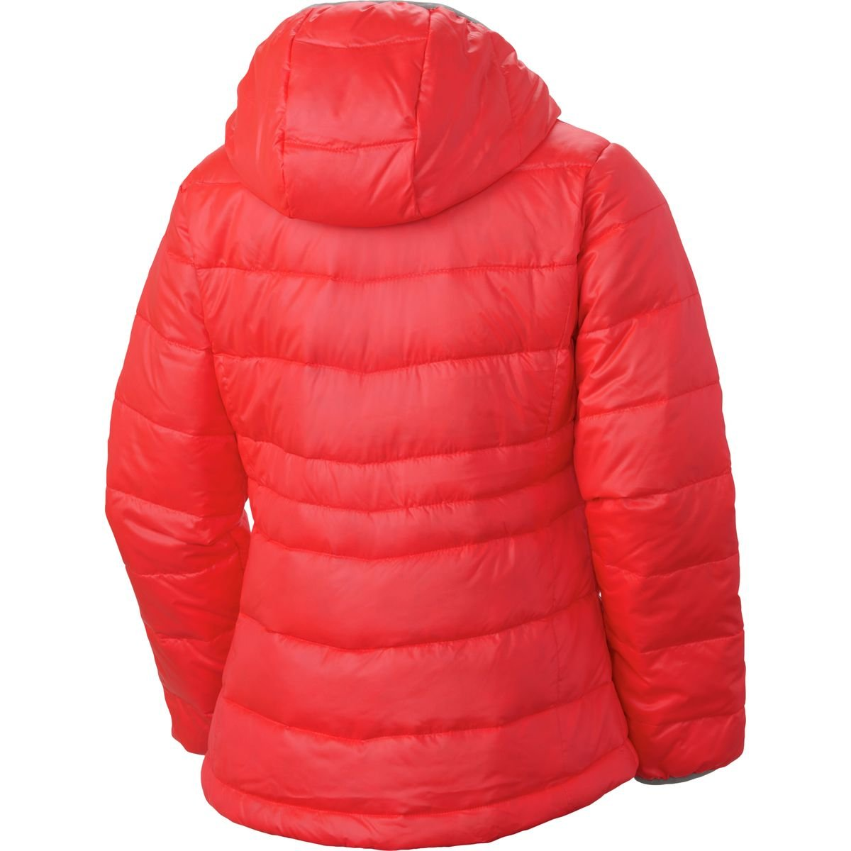 Columbia Womens Gold 550 TurboDown Hooded Down Jacket Laser Red//Earl Grey//White Pops 2XS 4-5 Columbia Kids Apparel 1624541-612 Little Big Kids