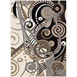 Cheap Home Dynamix Sumatra Alma Area Rug | Contemporary Dining Room Rug | Modern Abstract Design | Artistic Fashionable Appearance | Beige 7'8″ x10'2