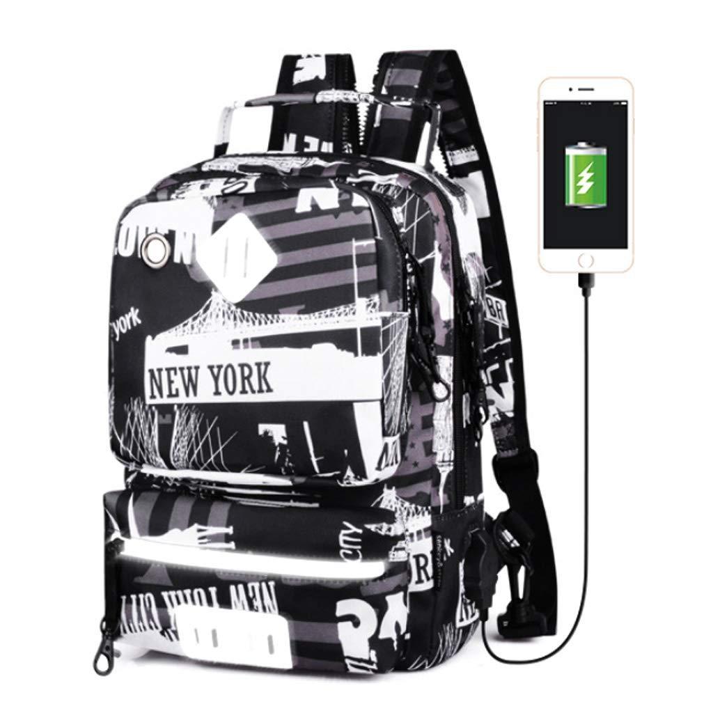 Borsa a tracolla per borsa da uomo con interfaccia di ricarica USB, borsa diagonale impermeabile in tessuto Oxford, zaino da viaggio multifunzione da viaggio per il tempo libero da 9,7 pollici,A