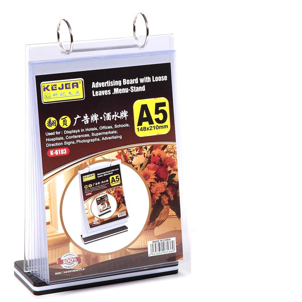 T-Type 8.5 x 11 flip Table Card Multi-Page Table Card Multi-Page Drink Card Multi-Function Display Card menu Price Card