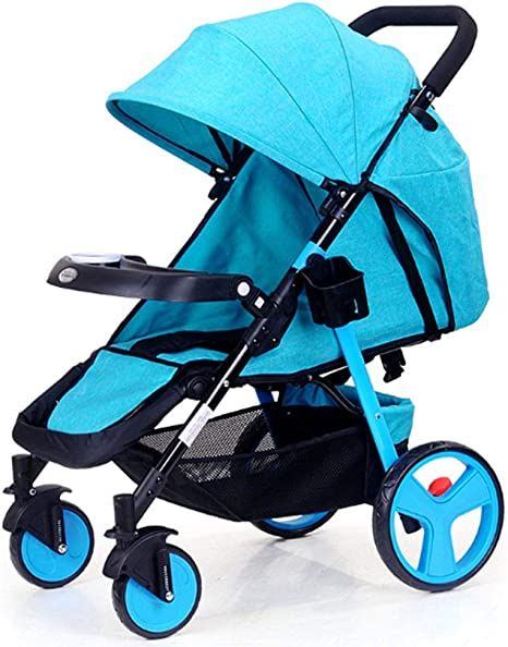 Opinión sobre Cochecito, Ligero, Compacto, Sistema de Viaje inclinable, Cochecito para recién Nacidos con Amortiguador de Choque de Cuatro Ruedas Plegable de Alto Paisaje para niños