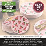 Watermelon Party Supplies, 9 Inch Paper Plates