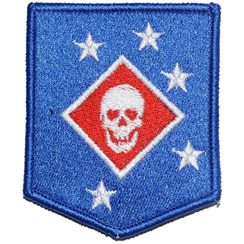 Raider Amphibious Corps Thick Jaw WW2 2.5x3 Shield Morale Patch - Full Color