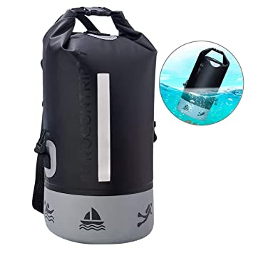 ROCONTRIP Dry Bag Sack Ultra Durable PVC Roll Top Waterproof Dry Storage Bag  Backpack for Kayaking Canoeing Fishing Rafting Travelling Camping Hiking ... 9f3224792ac66