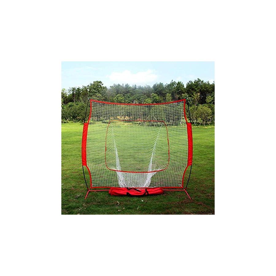 iBaste S Baseball and Softball Practice Net Portable Hitting Batting Training Net with Carry Bag