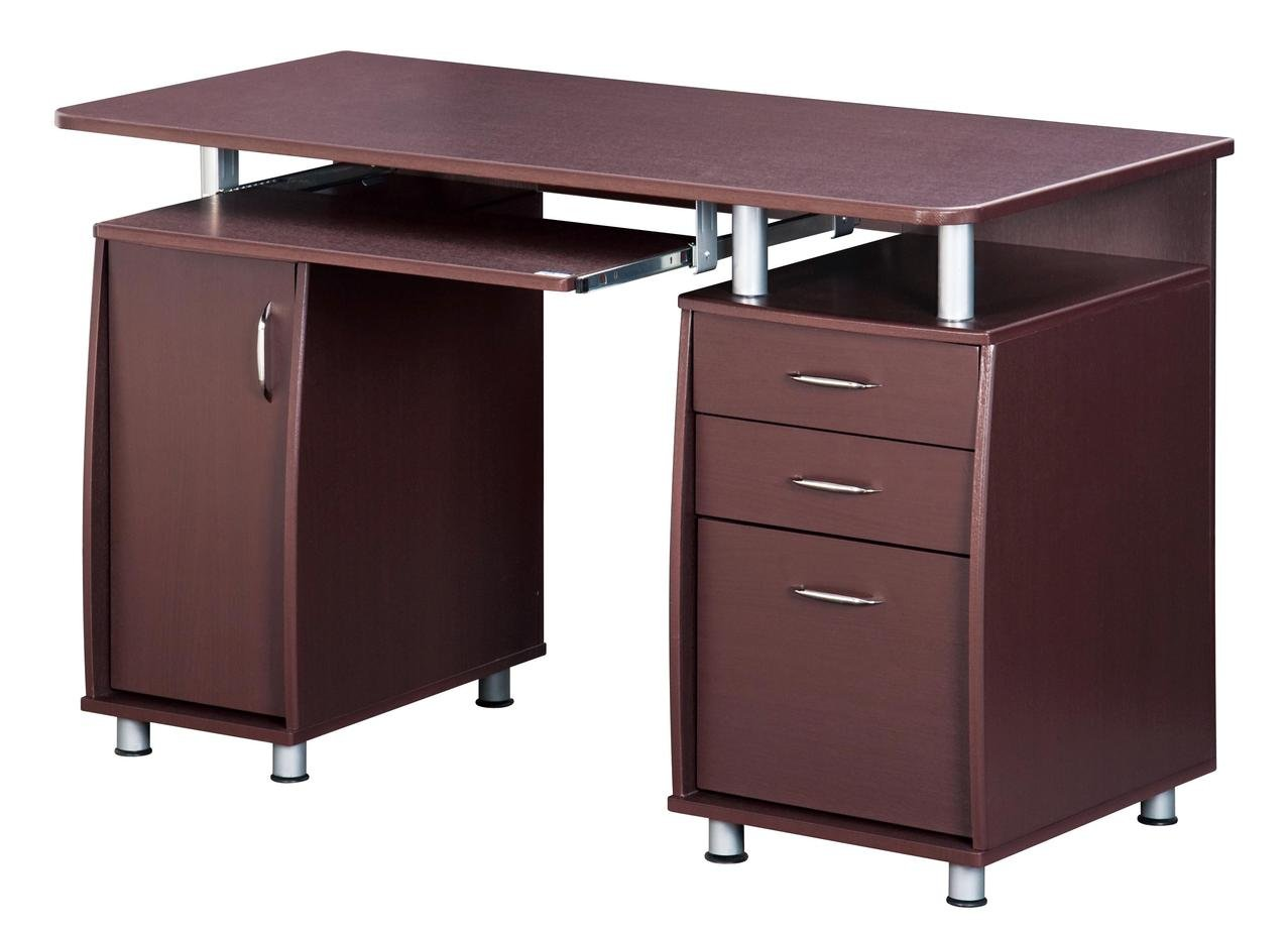 Amazon.com: TECHNI MOBILI Complete Workstation Computer Desk With Storage    Chocolate: Kitchen U0026 Dining