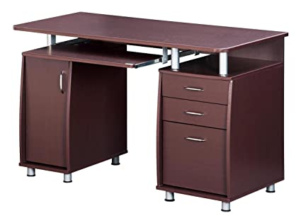 Exceptionnel TECHNI MOBILI Complete Workstation Computer Desk With Storage   Chocolate