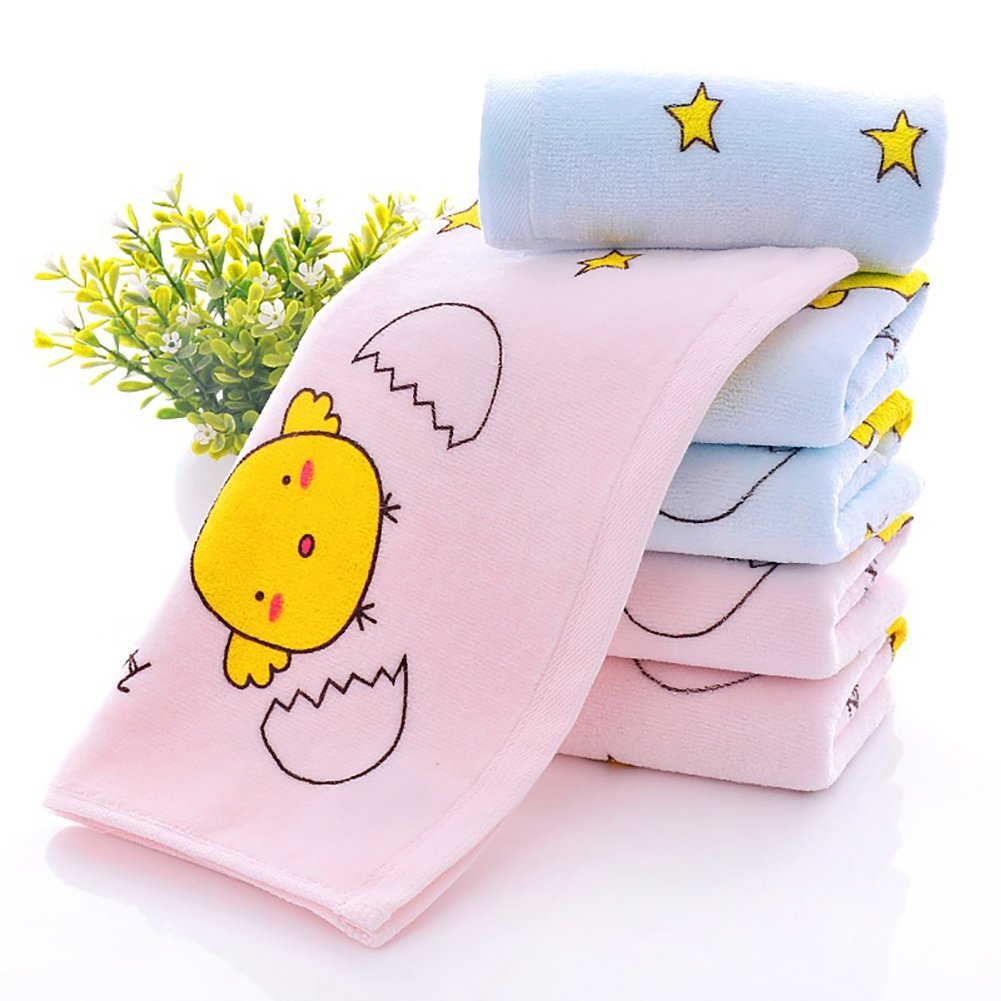 Momangel Toalla Infantil Estampada Linda De Los Ni/ñOs Toalla Infantil De Dibujos Animados Rosa Azul Blue