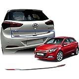 Auto Pearl - Rear Trunk Dicky Chrome Trim/Garnish Reflector For - Hyundai I20 Elite