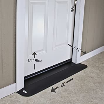 EZEdge Transition Threshold R& For a Door Sill 3/4\u0026quot; Rise Various & Amazon.com: EZEdge Transition Threshold Ramp For a Door Sill 3/4 ... Pezcame.Com