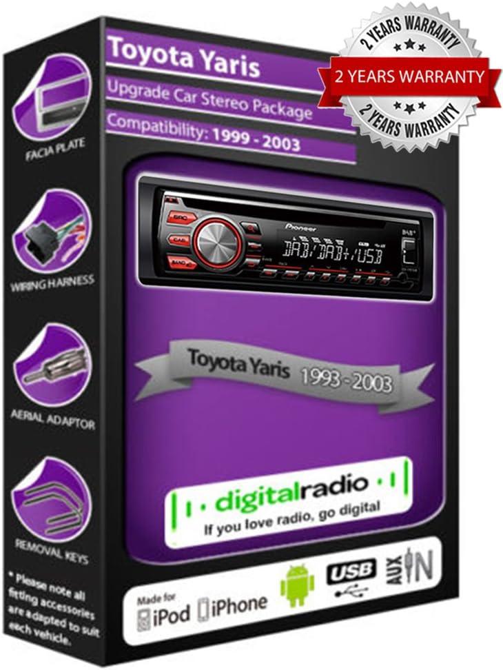Toyota Yaris DAB Radio Estéreo del coche Pioneer DEH-X6600DAB ...