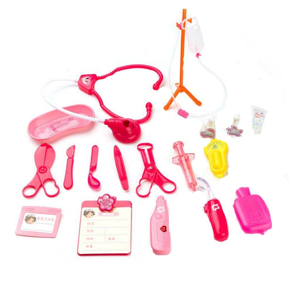 18 piezas de plástico Kit Con estetoscopio Pretend Play Juguetes de Doctor