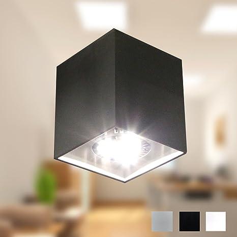 Foco LED Lámpara de techo lámpara de techo Foco Downlight Diseño Techo Foco Piso GU10 CE 230 V (Negro)