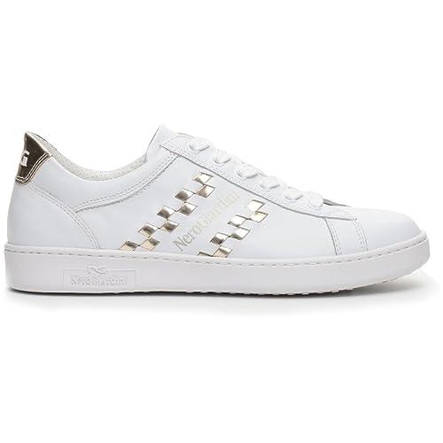 Nero Giardini 17270 Bianco Scarpa Donna Sneaker Pelle Made in Italy zMB2r