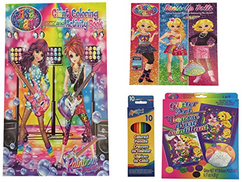 New! Lisa Frank Coloring Book & Activity Bundle - 4 Pieces (Coloring Book, Colored Pencils, Glitter Art & Dress Up Dolls) (Happy Halloween Coloring Pages For Toddlers)
