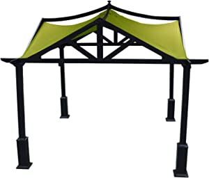 APEX GARDEN Replacement Canopy Top for Lowe's 10 ft x 10 ft Gazebo #GF-12S039B / GF-9A037X (Oasis Green)