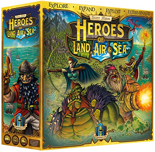 Heroes of Land, Air & Sea UNPAINTED - 4X RTS Large Scale Board - Best Game Rts