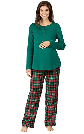 042a3dbc022a2 PajamaGram Women's Maternity Pajamas Cozy - Maternity Sleepwear, Green at  Amazon Women's Clothing store: