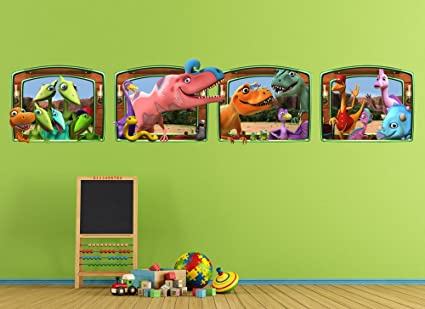 amazon com dinosaur train large window wall decal set home kitchen rh amazon com Dinosaur Train Toys Curious George