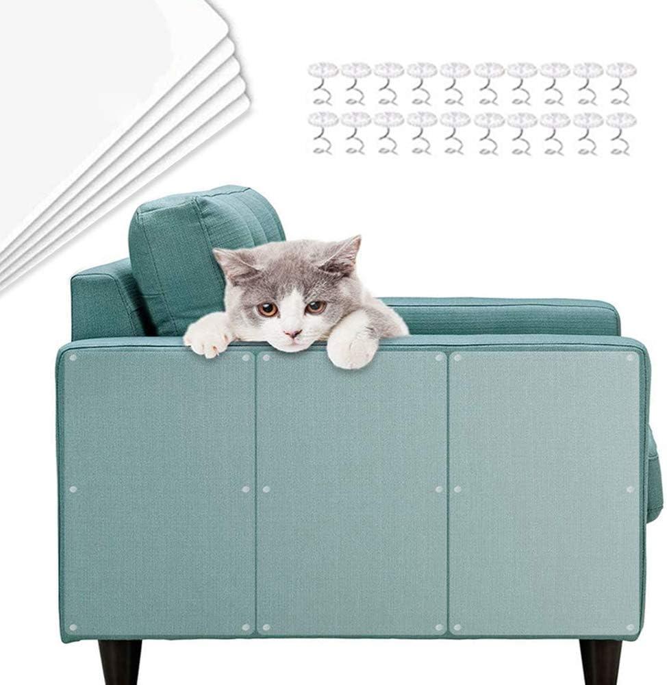 TaimeiMao sofá Anti-arañazos,Gatos Anti-arañazos,Gatos Anti arañazos para sofá,Sofá antiarañazos para Gatos,Gato Anti arañazos,Protector de Muebles para Gatos (5 Piezas)