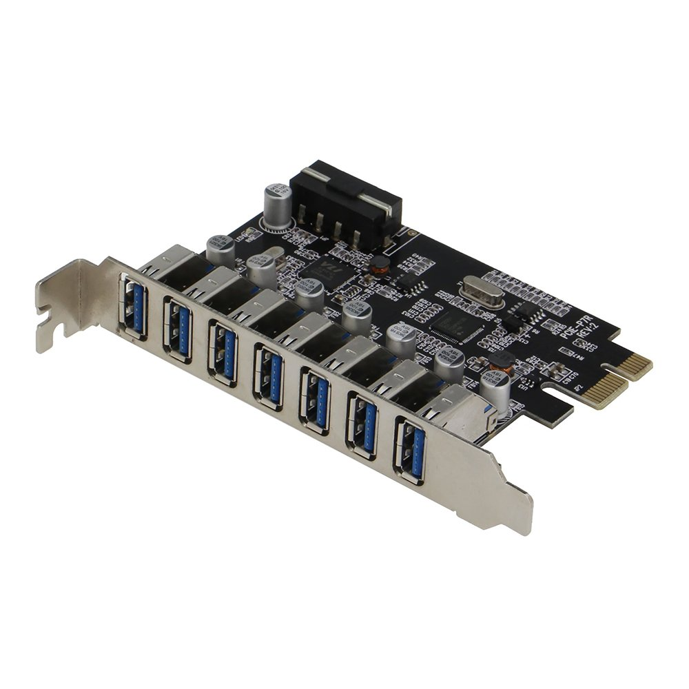 Sedna - Pcie 7 Port Usb 3.0 Adapter Card ( 7 External Ports